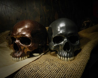 Skulls Pair Copper and Silver