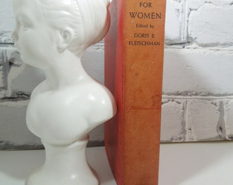 Careers for Women. Vintage Nonfiction Hardback Book. Book Collection. Office. Study. Red Decor.