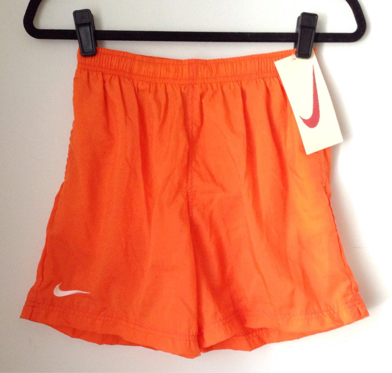 Deadstock Nike Orange Athletic Shorts Boys Size Large