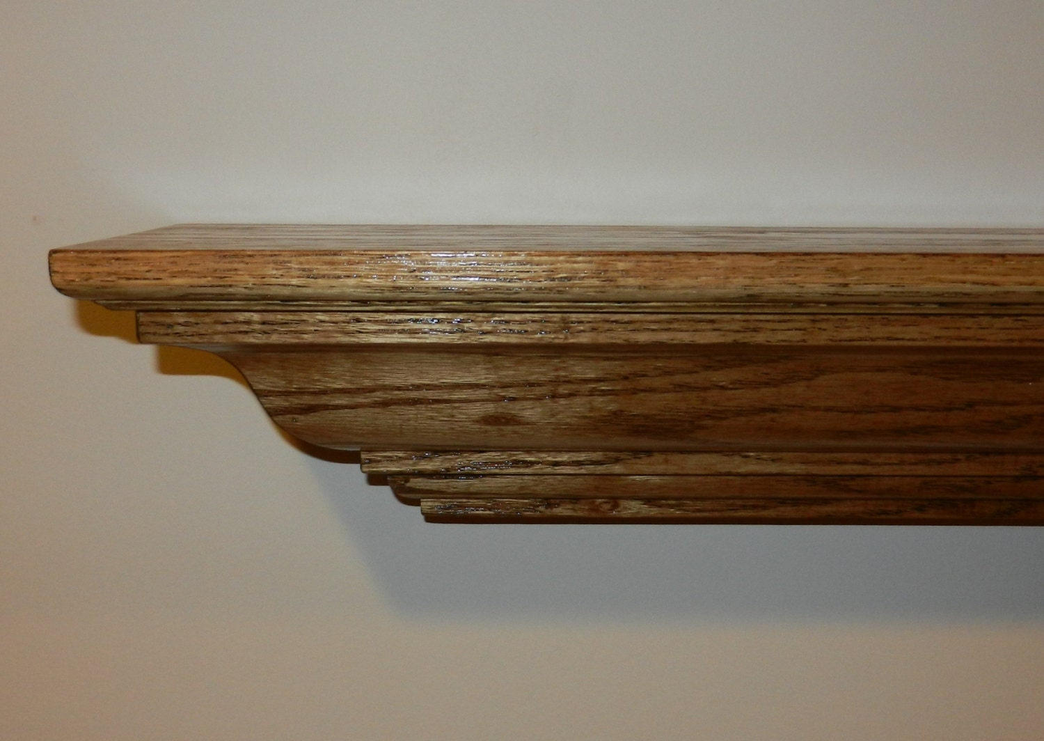 fireplace mantel mantle shelf custom made unfinished red oak