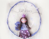 Mobile kids-Paper mache fairy mobile- kids decor - nursery