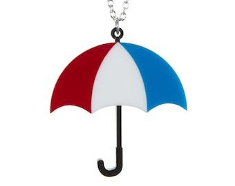 Umbrella necklace - laser cut acrylic