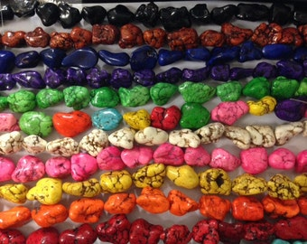 "18-22mm magnesite nugget beads, 16""strand"