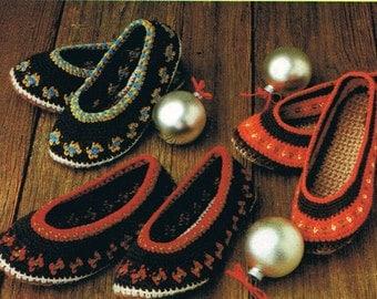 Crochet Pattern Women's Rug Slippers Pattern Footwear Digital Pattern Instant Download