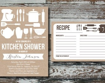 Printable Kraft Kitchen Shower Invitation