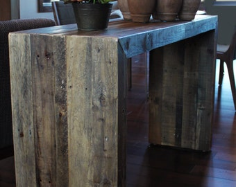Reclaimed Wood Console, Reclaimed Wood Furniture