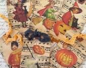 Vintage Style Halloween Tags