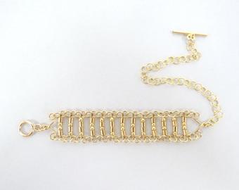 Gold bars bracelet