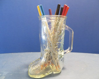 Vintage Glass Cowboy Boot