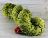 Sage Hand Dyed Yarn, DK tweed wool, green yarn