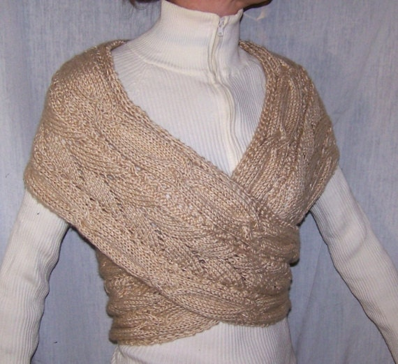 Knitting Pattern Wrap Cardigan : Instant download Knitting Pattern Wrap Sweater for Women