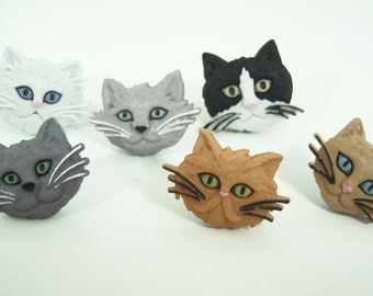 Cat Push Pins or Magnets