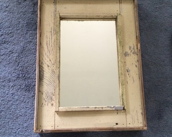 Barn Wood Mirror--yellow
