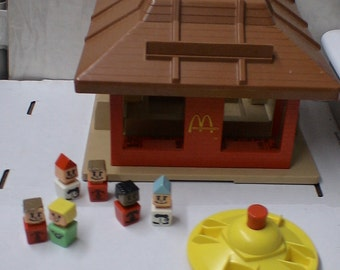 Vintage mcdonalds playset with figues