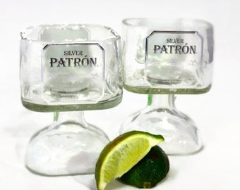 Small Patron Tequila Bottle Margarita Drinking Glass 375ml