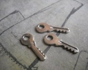 Key Charms Bulk Skeleton Keys Wholesale Keys Antique Silver 18mm 100pcs