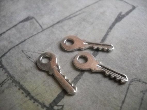 key charms bulk skeleton wholesale antique silver