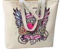 Look After My Heart New Large Canvas Tote Bag Cool Gothic Tattoo Art