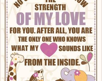 8x10  DIGITAL FILE -Strength Of My Love, CoCaLo Jacana Bedding, Nursery Print