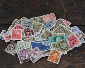 loose vintage Magyar Hungary Hungarian postage stamps