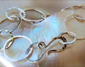 Classic Fine Silver Bracelet with Artisan Clasp