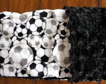 Soccer Double-Sided Minky Blanket