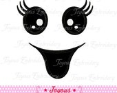 Instant Download Halloween Ghost Face Applique Machine Embroidery Design NO:1238