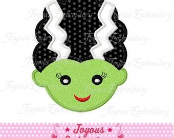Instant Download Halloween Frankenstein Bride  Applique Machine Embroidery Design NO:1229
