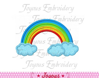Instant Download Rainbow Applique Machine Embroidery Design NO:1514