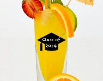 "Graduation Cap Chalkboard Labels -  Set of 12,    2.5"" x 1.5""    Peel & Stick, PVC-Free,   Environmentally Friendly"