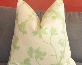 Pillow Cover, Decorative Pillow, Throw Pillow, Toss Pillow, Sofa Pillow, Alcott Silhouette, Floral, Pear, Home Furnishing, Home Decor