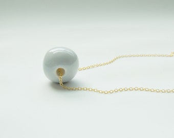 Ceramic Bead Necklace - Ceramic Jewelry
