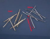 10grams-30mmHeadpin Rhodium Gold plated over brass head pins(C541)