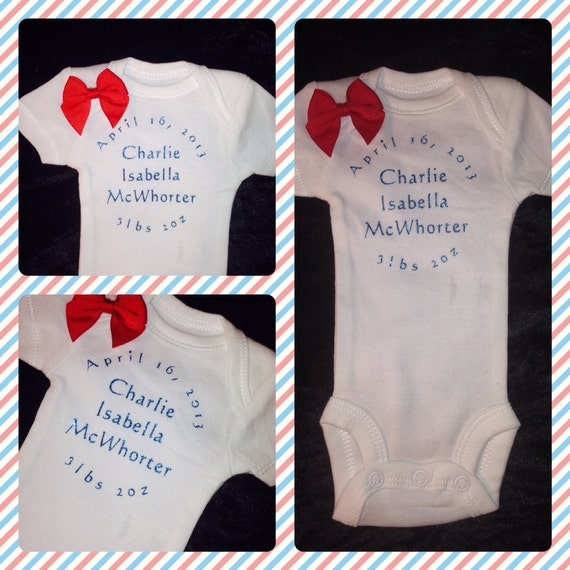 Newborn Preemie Onesie Welcome Home and Birth Announcement – Preemie Birth Announcements
