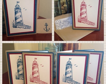 Set of 4 Lighthouse Cards