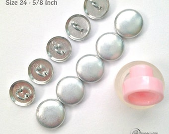 Size 24 (5/8 inch) Wire Back Cover Button Starter Kit (10)
