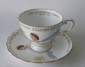 Tuscan English China Teacup H.M. Queen Elizabeth II