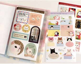 Choochoo Cat Sticker Pack Ver 3 - Deco Sticker - Korean Sticker - Diary Sticker - Filofax - 8 sheets in
