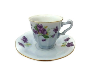 Vintage Yamaka China Octagon Tea Cup and Saucer