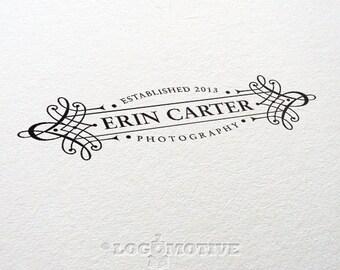 Logo Design Custom Premade Logo Photography Logo Watermark Design Scroll Logo Business Logo Retro Logo Victorian Logo Blog Logo