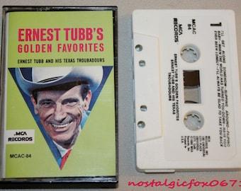 "Vintage ERNEST TUBB'S ""Golden Favorites""Honky Tonk Country Music Cassette Tape"