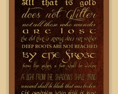Riddle of Strider POEM Lord of the Rings TYPOGRAPHY modern print poster