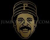 Willie Stargell Jumbotron Art - Limited Edition Gold Foil Print, 12 x12