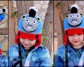 Thomas the Train hat.Crochet  Train hat. Made to order.