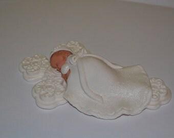 Baptism Cake topper - Girl