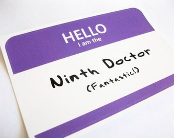Ninth Doctor Name Tag Sticker