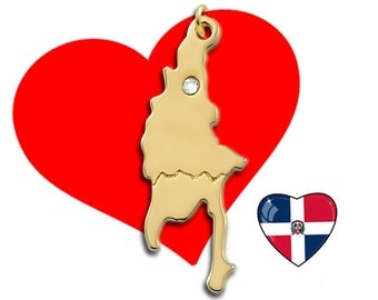 Gold Dominican Republic Charm