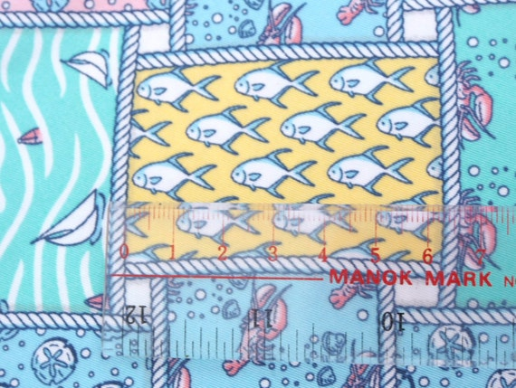 Ocean fish lobster themed cotton fabric fq from for Fishing themed fabric