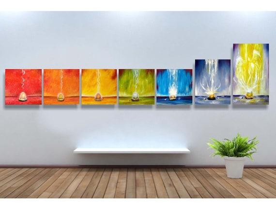 Original oil paintings, Soul bird chakra series, spiritual art, LARGE SIZE