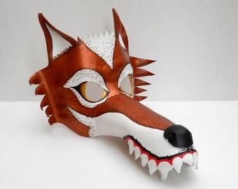 Wolf Leather Masks Red Copper White Animal Werewolf Wild Savage Circus Costume Halloween Party Mardi Gras Masquerade Children and Adult Gift